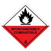 Hazard safety sign - Spontaneously 063